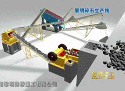 碎石生产线配置方案,颚式破碎机,圆振筛